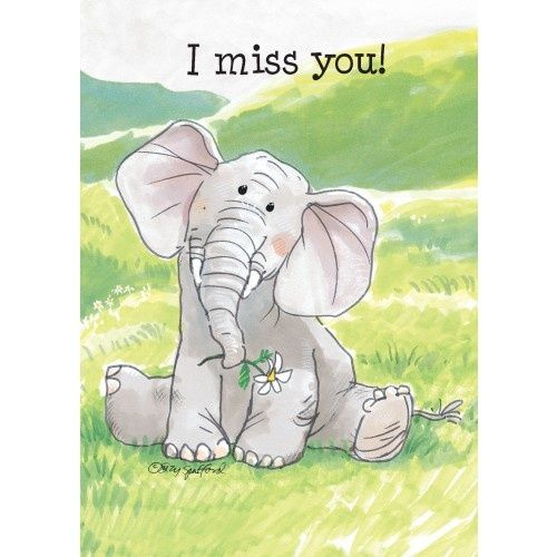 Miss You Suzy Spafford Elephant Clip Art Suzy