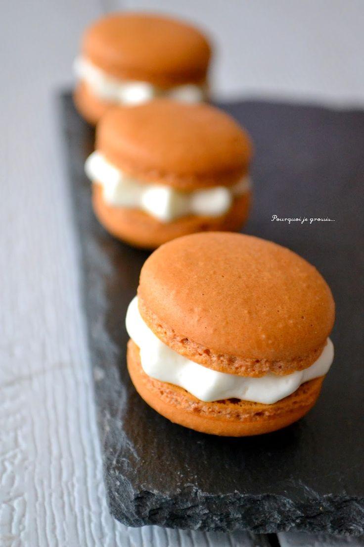 ღ Macarons, saveur amande | Macarons | Pinterest | Mascarpone and ...