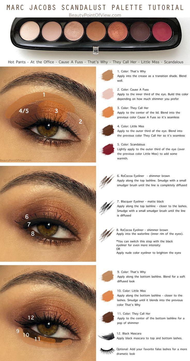 Marc Jacobs Scandalust Palette Tutorial - super easy! #makeup #tutorial #sephora #marcjacobs #scandalust #beauty