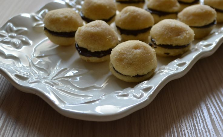 "my italian cookies ""baci di dama"" hazelnuts  chocolate & yummy"