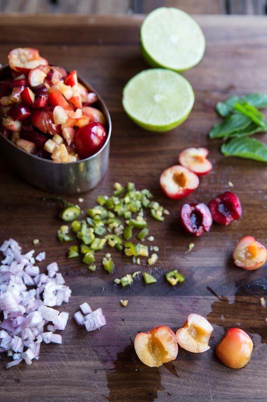 Cherry Salsa Recipe • theVintageMixer.com