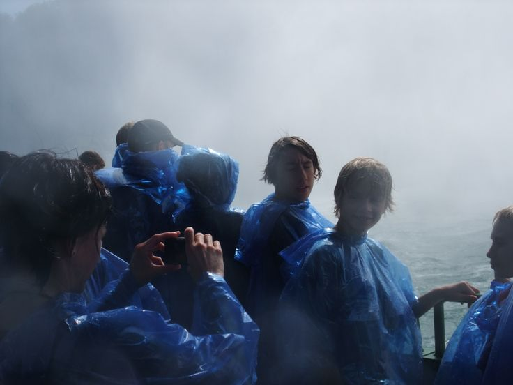Niagara Falls boat tour, water proof camera recommended