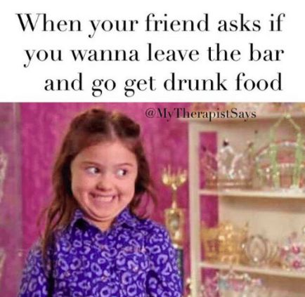 When both of you drunkards eventually turn into hungry animals: | 18 Memes You Need To Send To Your Drinking Buddy