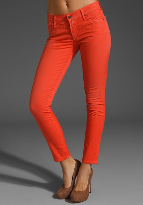 """CITIZENS OF HUMANITY JEANS Thompson Medium Rise 29"""" Skinny in Mango Tango at Revolve Clothing - Free Shipping!"""