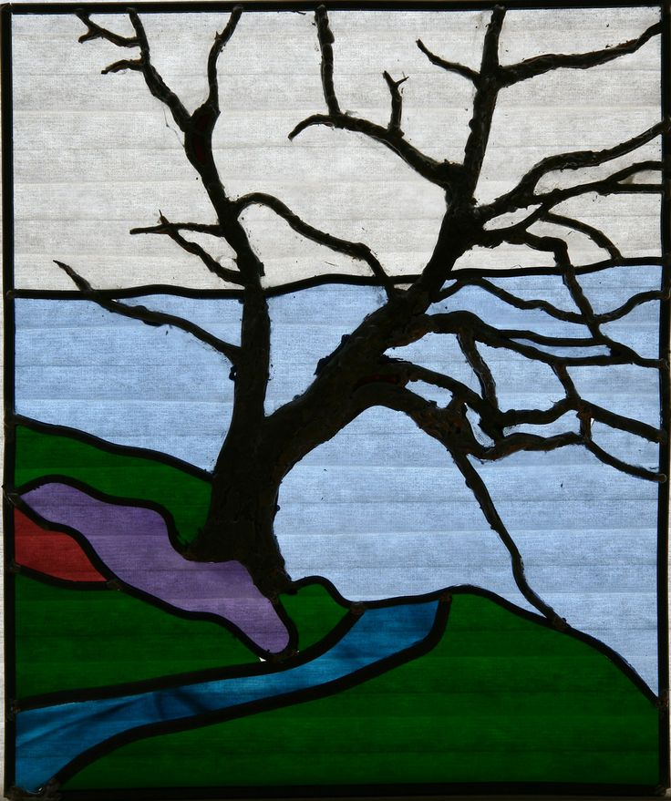 Stained Glass Tree Patterns