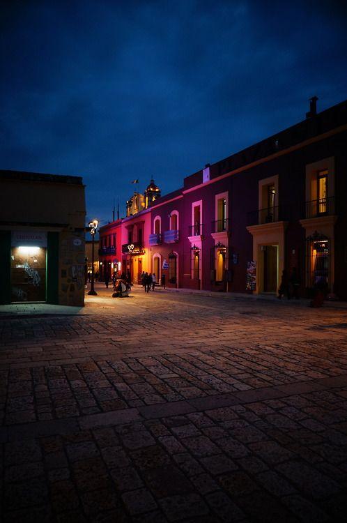 Oaxaca, Mexico at night