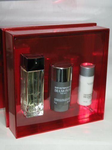 Giorgio Armani Emporio Armani Diamonds for Men Gift Set (2.5 Oz Eau De Toilette Spray + 1.7 Oz Aftershave Balm + 2.6 Oz Deodorant Stick) by Giorgio Armani. $75.50. EDT Spray 2.5 oz/75 ml Deodorant stick 2.6 oz After shave Balm 1.7 oz/50 ml