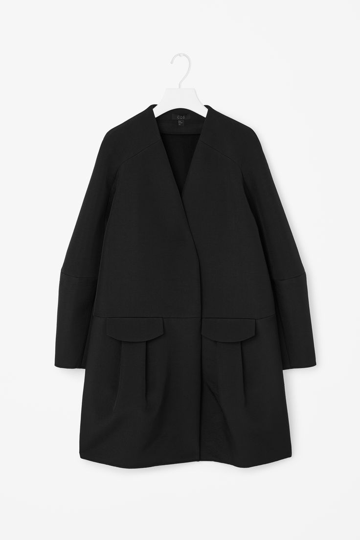 COS | Front pocket a-line coat