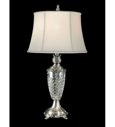 Dale tiffany sarah crystal table lamp 1 light in antique pewter gt80118