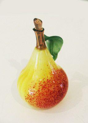 *Margaret Neher Pear Perfume Bottle 5,5cm   flameworked glass