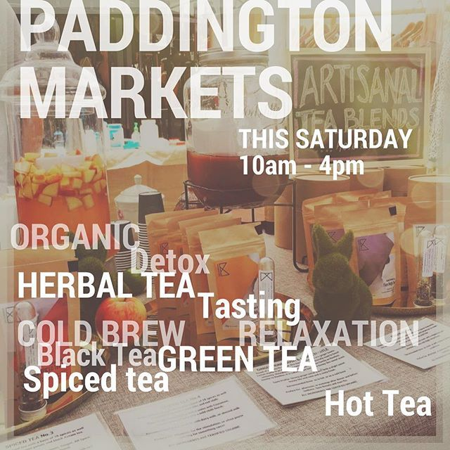 @paddingtonmarkets this Saturday, we will be showcasing all our tea creations, ranging from organic green, black, herbal and spiced teas! 🌿☕️🌿☕️ #sydneymarkets  Oh! Yes! We are also making our ever-popular Hot Spiced Apple Cider (virgin). 🍎🍏🍎🍏🍎 It would be warm, awesome and cozy!  #winterready #christmasinjuly - - - #teas #organicliving #tasteK #tastekaleidoscope #greentea #pekoe #gingertea #minttea #floraltea #masalachai #herbaltea #tisane