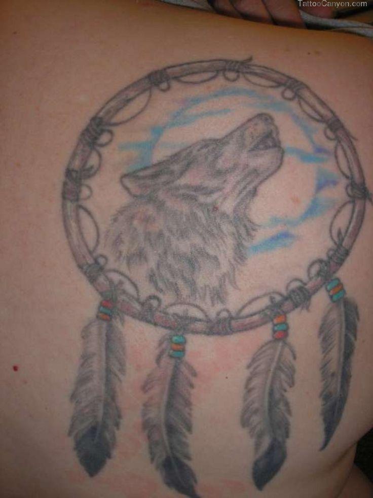 Wolf tattoo dreamcatcher - photo#40