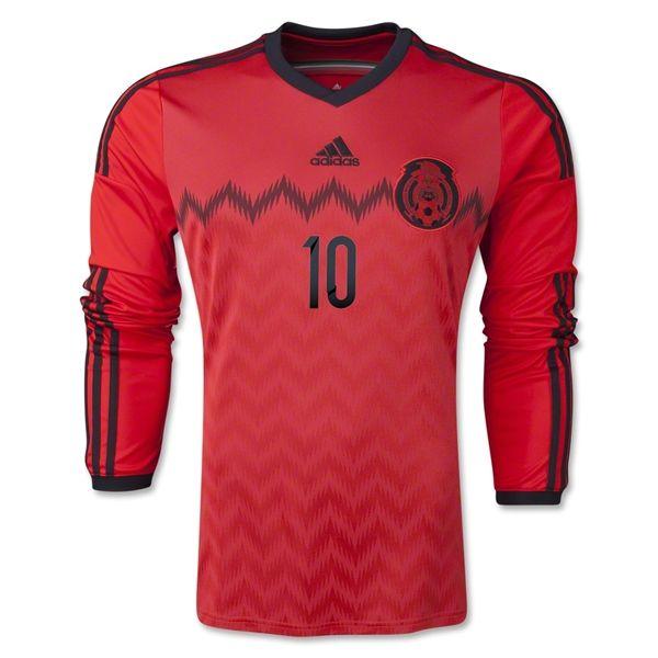 Mexico 2014 G. DOS SANTOS LS Away Soccer Jersey - WorldSoccerShop.com