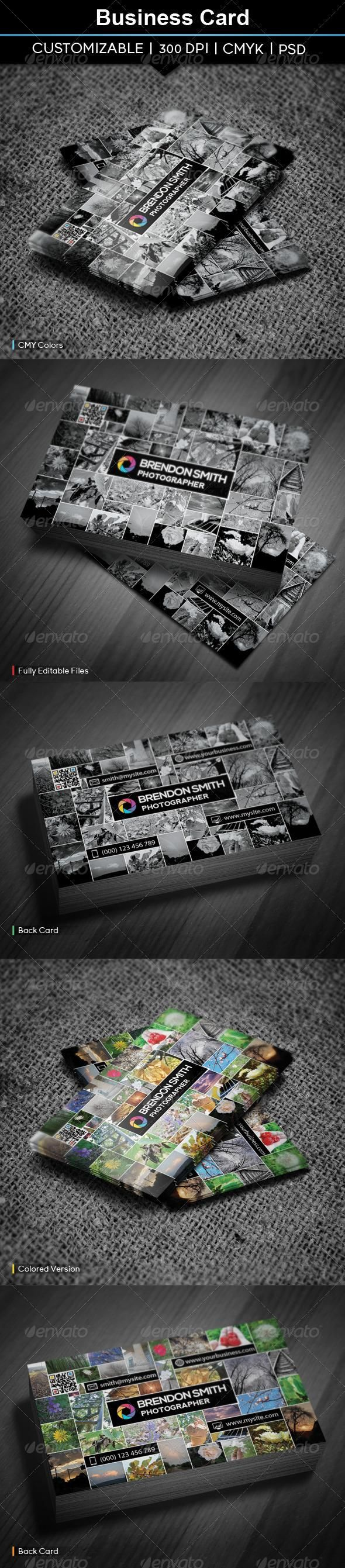 Business Card Photography
