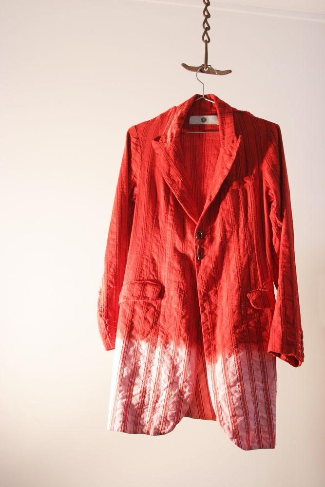 Veste rouge - Tye & Dye  Unisexe. Existe pour l'homme et pour la femme