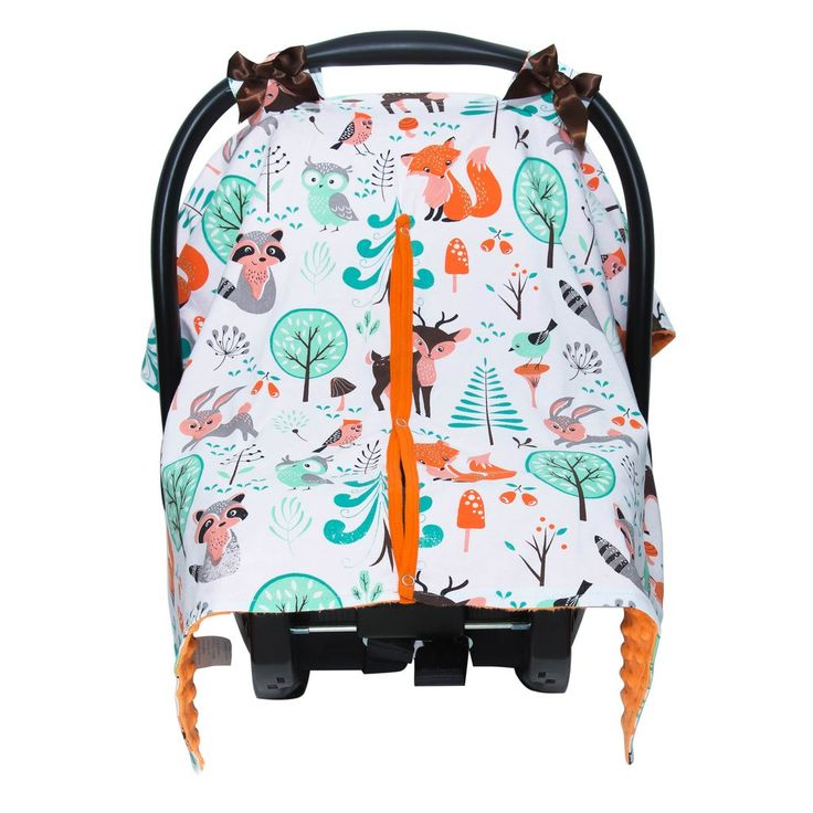 Canopy Car Seat Cover - Foxes