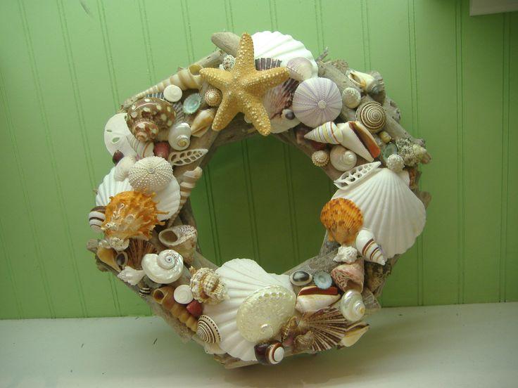 Beach Decor Seashell Driftwood Wreath  Shell Wreath by LiveCoastal, $55.00