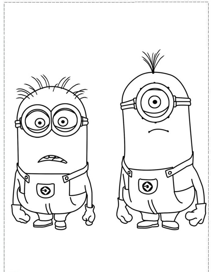 Minions Coloring Printables   Download Minion Coloring Pages at 691 x 890 Resolution.