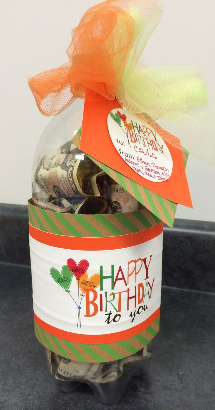 Money Gift Birthday Ideas For Kids Money In A 2 Liter