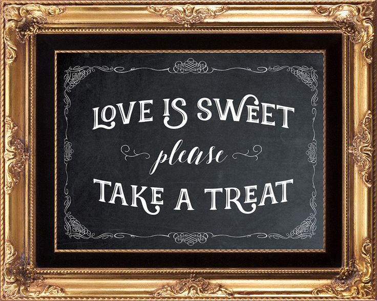 printable wedding sign, chalkboard wedding sign, chalkboard love is sweet sign, candy buffet sign, love is sweet take a treat sign, 8x10 by OurFriendsEclectic on Etsy