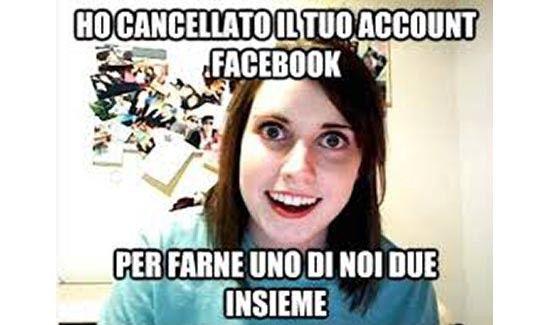 Un posto dalla pagina Facebook 'fidanzata psicopatica'