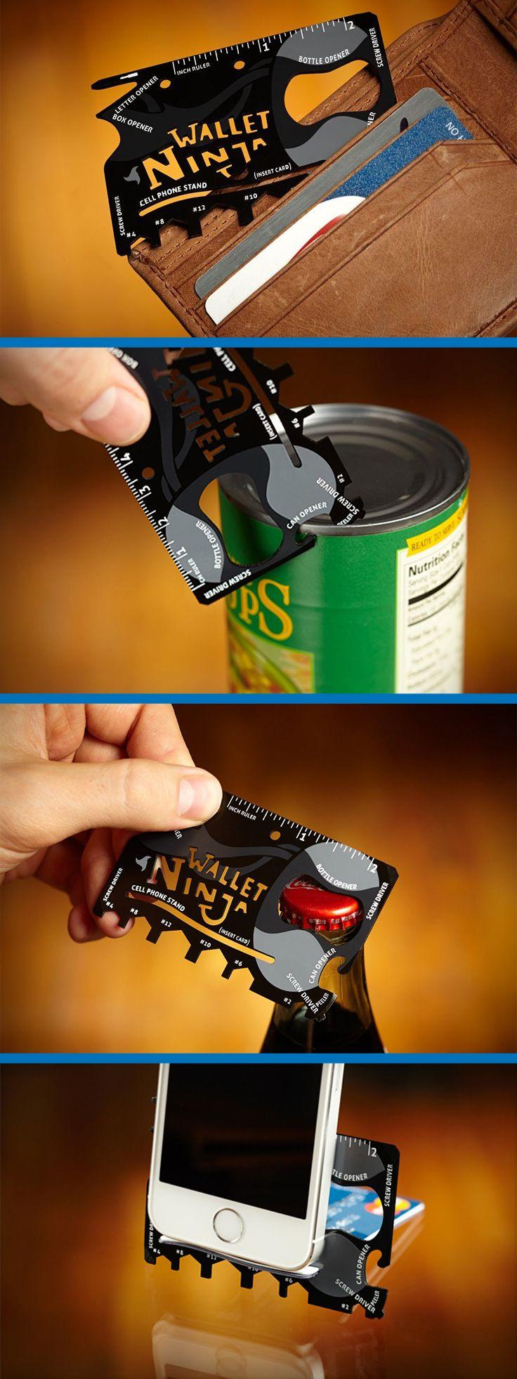 Wallet Ninja 18 in 1 Multi-purpose Credit Card Size Pocket Tool gift | gadgets | tools