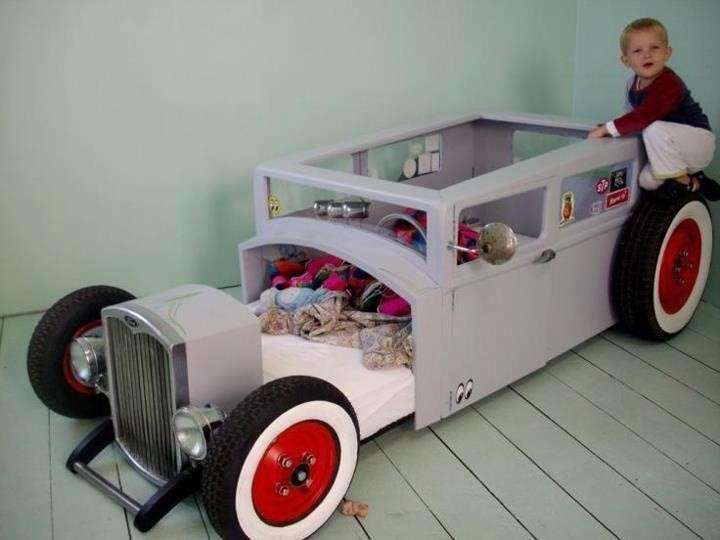 Letti per bambini a forma di macchina - Letto auto vintage