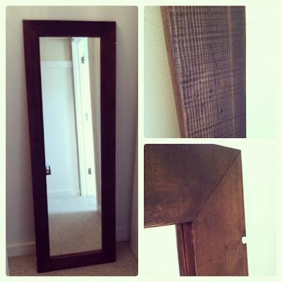 Pine tree home diy full length mirror frame diy for Full length mirror with mirror frame