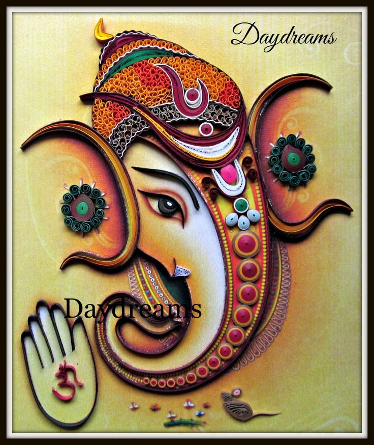 Daydreams quilled ganesha quilling pinterest for Paper quilling work