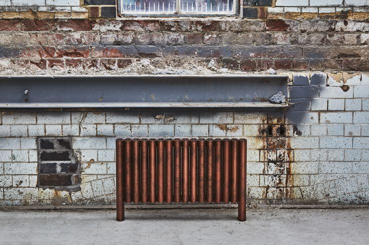 stunning 'copper pipe' sublimation print finish on Eskimo's column radiators RON.