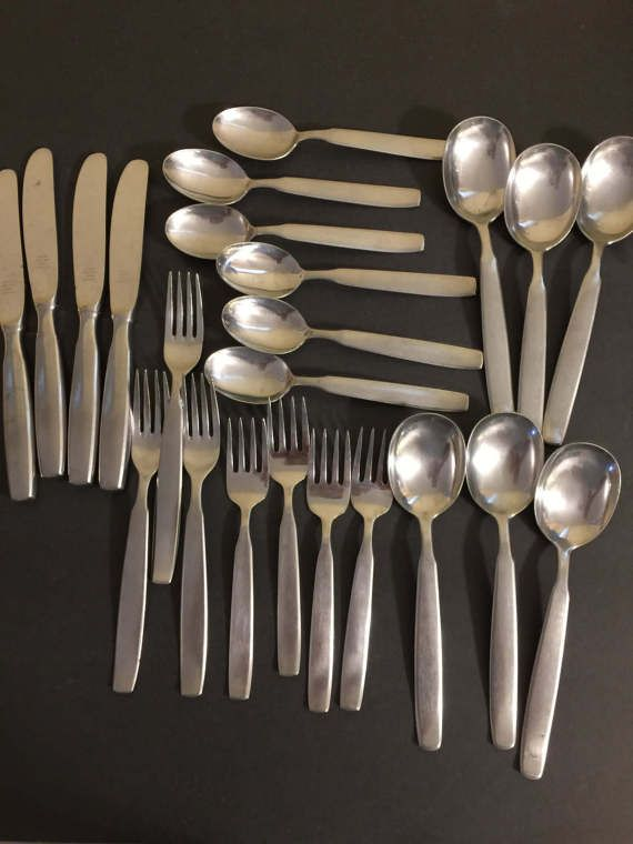 79 best images about flippin 39 for flatware on pinterest mid century modern danish modern and - Contemporary stainless flatware ...