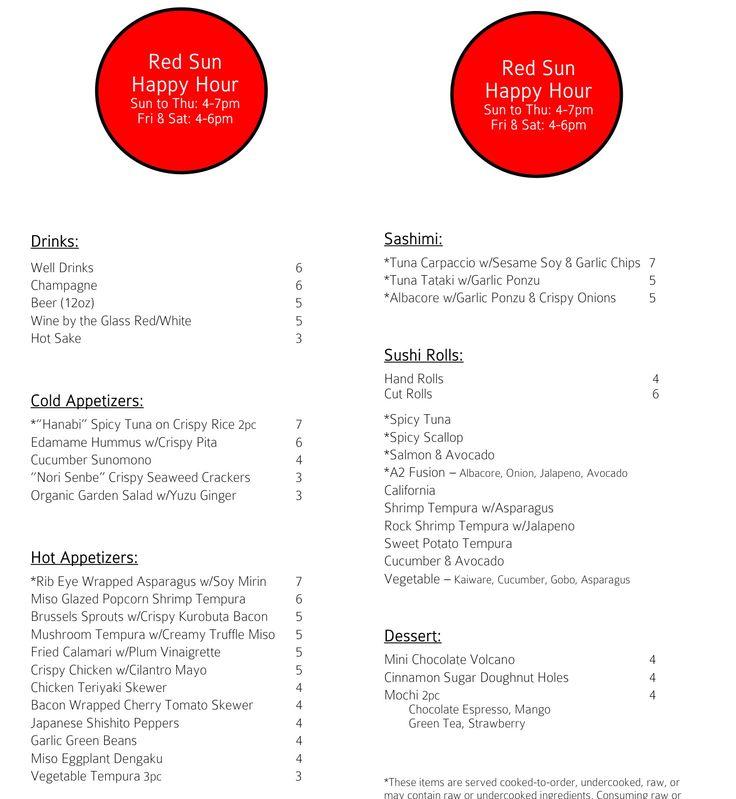 Sushi Roku, Forum Shops, Sun-Thurs 4-7, Fri & Sat 4-6