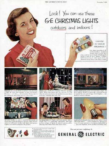 1953 GE Christmas Light ad