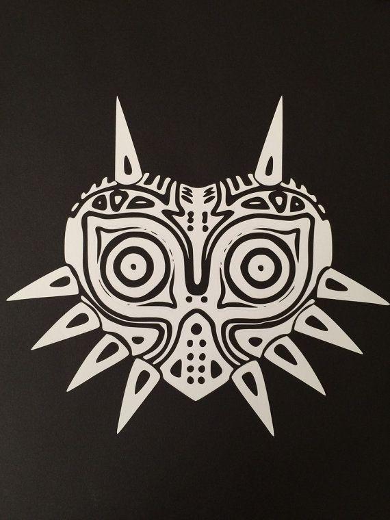 High detail majoras mask custom white vinyl by adventuresingeekery