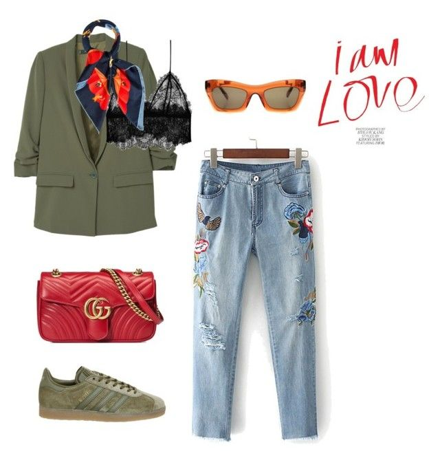 i am love by ellensennerman on Polyvore featuring MANGO, Anine Bing, Topshop, Gucci, Bulgari and CÉLINE