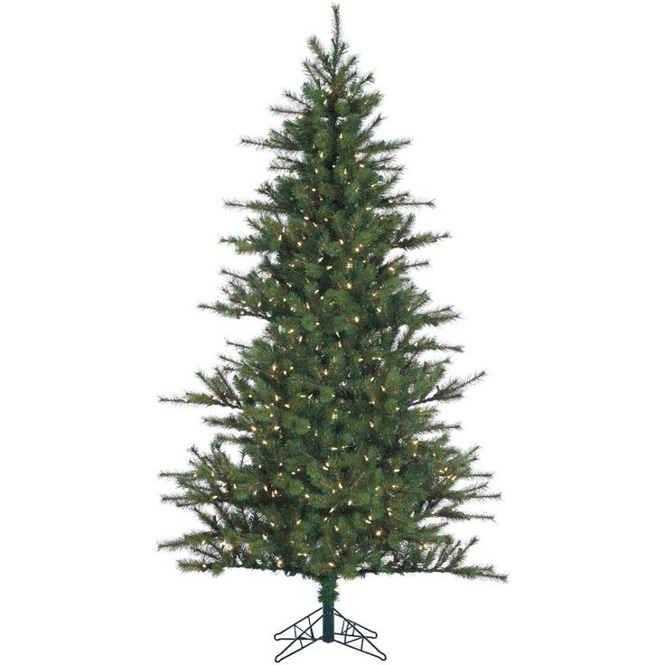 7 ft. Pre-lit LED Southern Peace Pine Artificial Christmas Tree with 600 Clear Lights, Greens