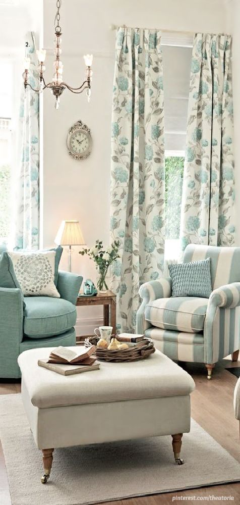 Love this look! Gives the feeling of the beach by using colors of cool turquoise and white - but not a nautical print to be found!