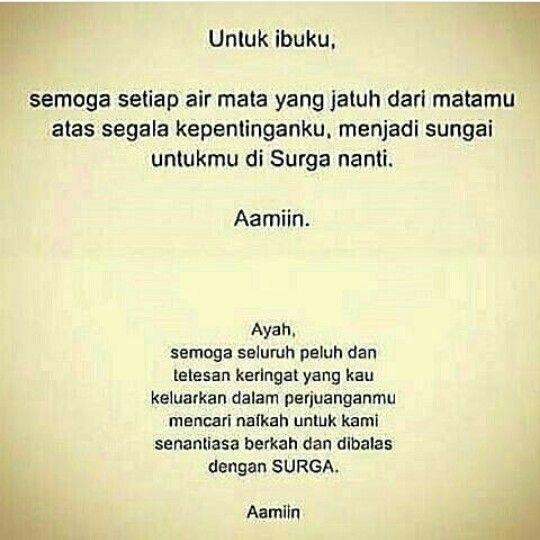 Untuk bapak, ibu, ayah dan mama..