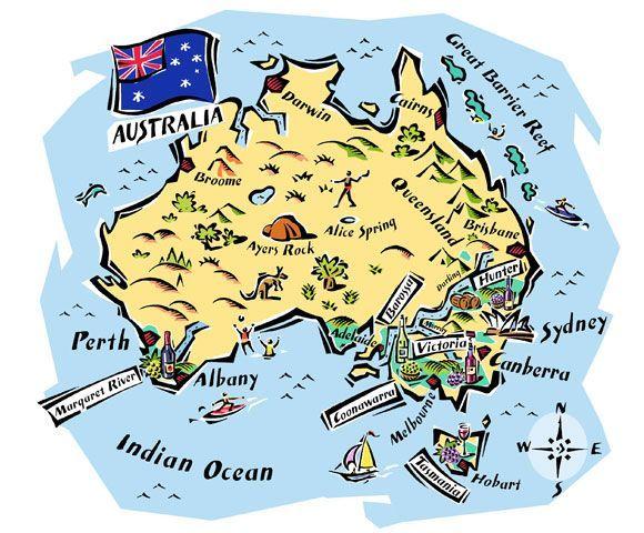 Fred Van Deelen - Map of Australia's wine regions