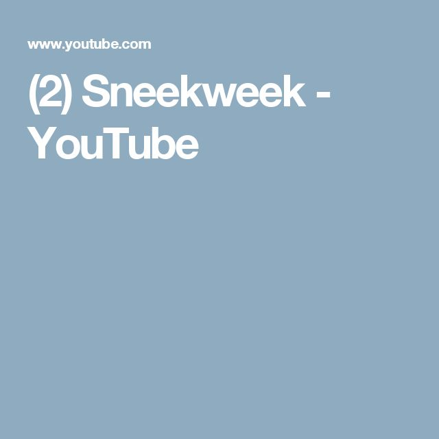 (2) Sneekweek - YouTube