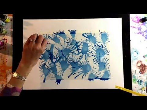 Stunning alcohol ink effects using acetate/transparency film and a straw. You will love this! - YouTube