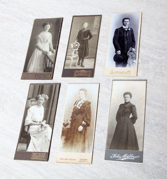 Collezione di 6 carte da visita Cdv molto belle. 5 giovani donne, 1  uomo. Per collezionisti, appassionati di fotografia, moda e arredamento by ItalicArt #italiasmartteam #etsy