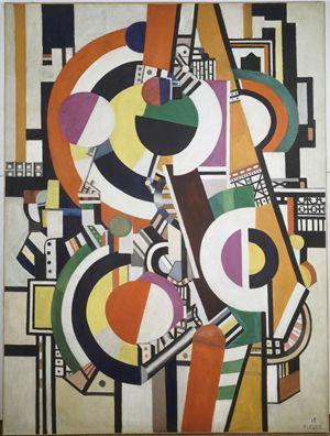 Disks, 1918, by Fernand Léger (Musée d'Art Moderne de la Ville de Paris) © 2013 Artists Rights Society (ARS), New York/ADAGP, Paris. Photography: Bulloz © RMN-Grand Palais/Art Resource, NY.