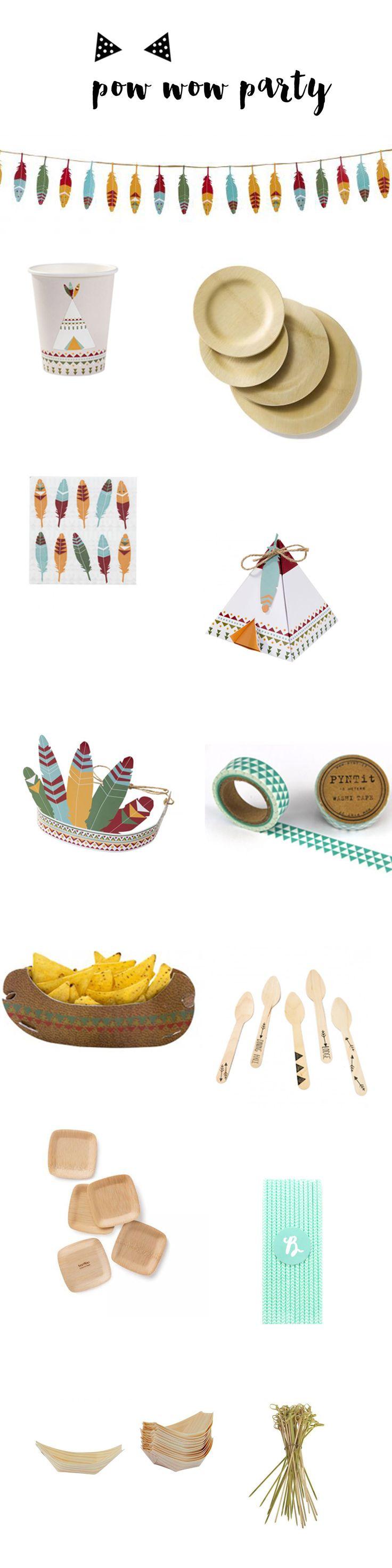 Toute la décoration et les accessoires de table  pour un anniversaire sur le thème des indiens à retrouver sur www.rosecaramelle.fr   #indien #powwow #birthday #anniversaire #fete #tribal #boho #kids #deco #fete #enfants
