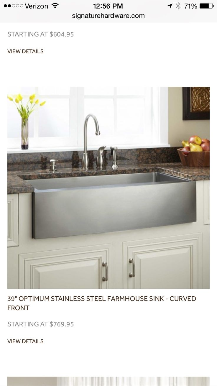 Kitchen sink with matching black glass tap landing and sliding cover - Welcome Style Into Your Kitchen With The Hazelton Stainless Steel Farmhouse Sink