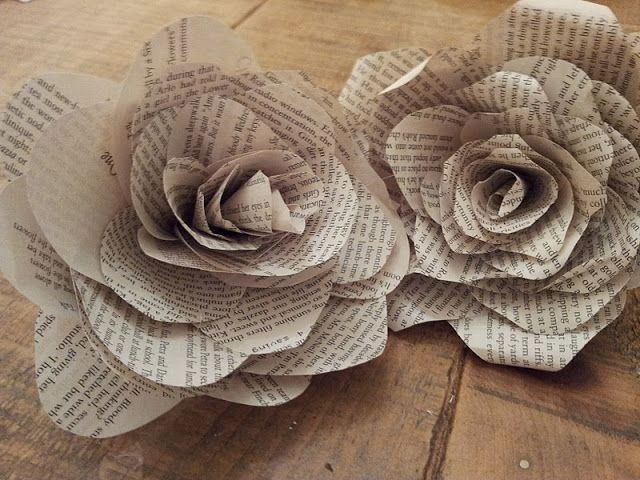Amazing DIY Flower Tutorials You Must Try: Book Page Flowers