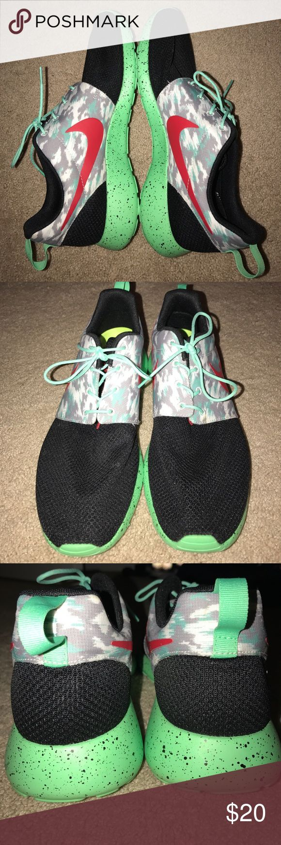 Nike Roshe Runs Perfect condition Roshe Runs by NikeID Nike Shoes Athletic Shoes