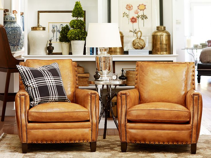 Changing it Up for Spring - Design Chic (add metal studs to our leather recliner)