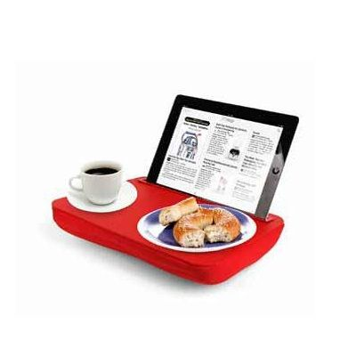"""Rest your iPad on the iBed while you lounge on the couch or in bed.  Give your arms a rest and read comfortably with the iBed on your lap.  Sturdy, non-slip surface with soft and comfortable microbead cushion.    Size: L 11.5"""" x W 9.5"""" x H 2"""""""