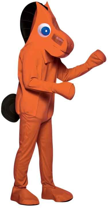 #4097 Pokey Adult - America's favorite sidekick in a classic cartoon – It's Pokey! Pair this up with our Gumby costume and you will be unstoppable! Polyester. One size.  #pokey #halloween #funevent